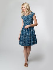 Chilmark Dress Indigo Floral
