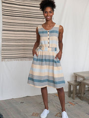 Cora Reversible Dress Sky Stripe