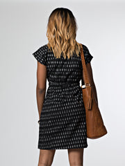 Craft Revival Dress Black Ikat