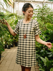 Delridge Dress Tri-Tone Plaid