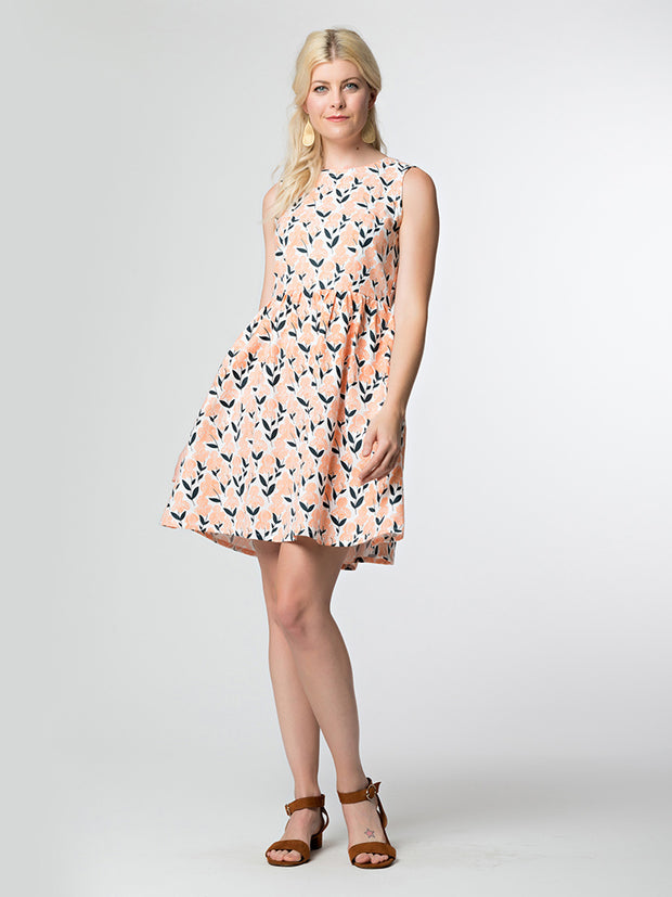 Dilly Dally Dress Peach Iris