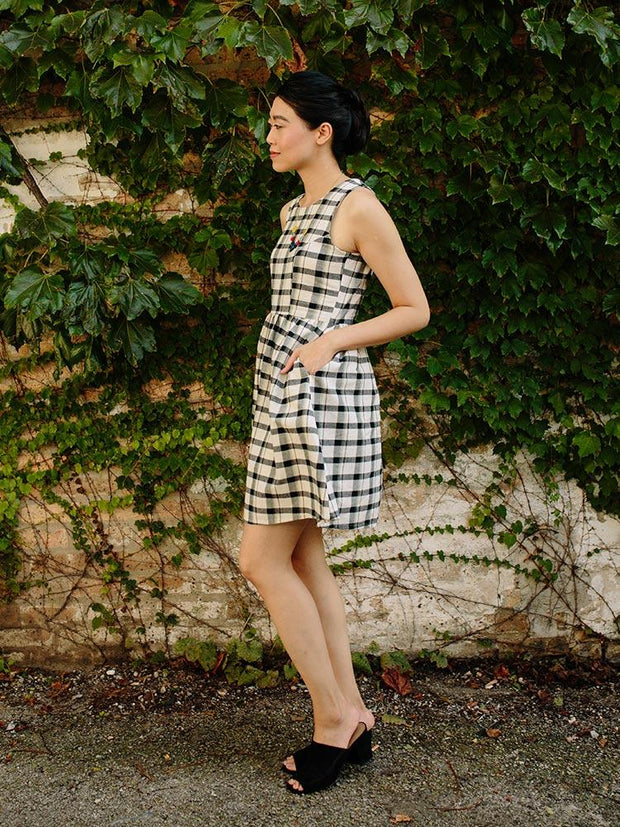 Dilly Dally Dress Tri-Tone Plaid