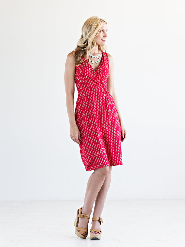 Eva Wrap Dress Red