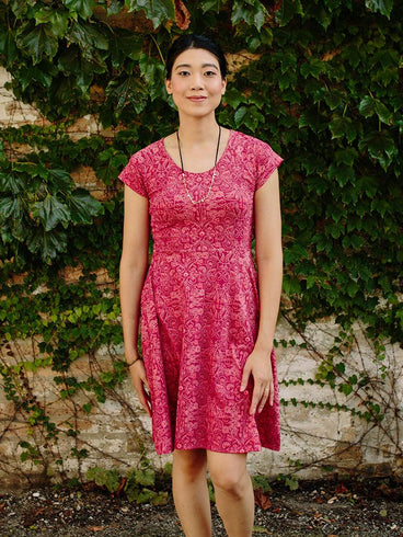 Farmers Market Dress Ruby Pink