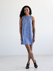 Fresco Shift Dress Chambray