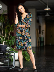 Geneva Dress Black Floral