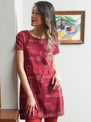 Hudson Shirtdress Red Quilt