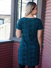 Hudson Shirtdress Teal Foxes
