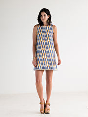 Ikat Polo Dress Peach