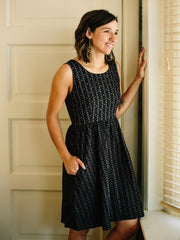 Imani Dress Black Dashes