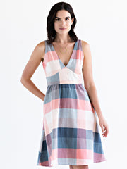 Isabella Dress Pink Plaid