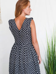 Karina Dress Black Daisy
