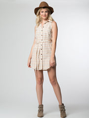 Layla Shirtdress Cream Plaid