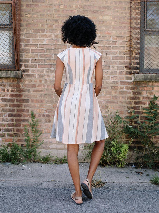 Lovely Lines Dress Pastel Stripes