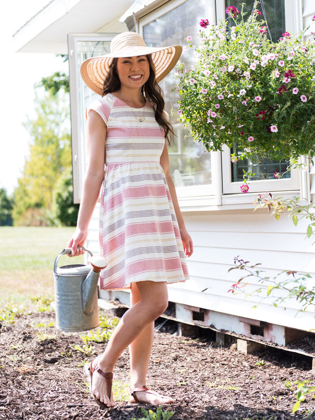 Lovely Lines Dress Rose Stripe
