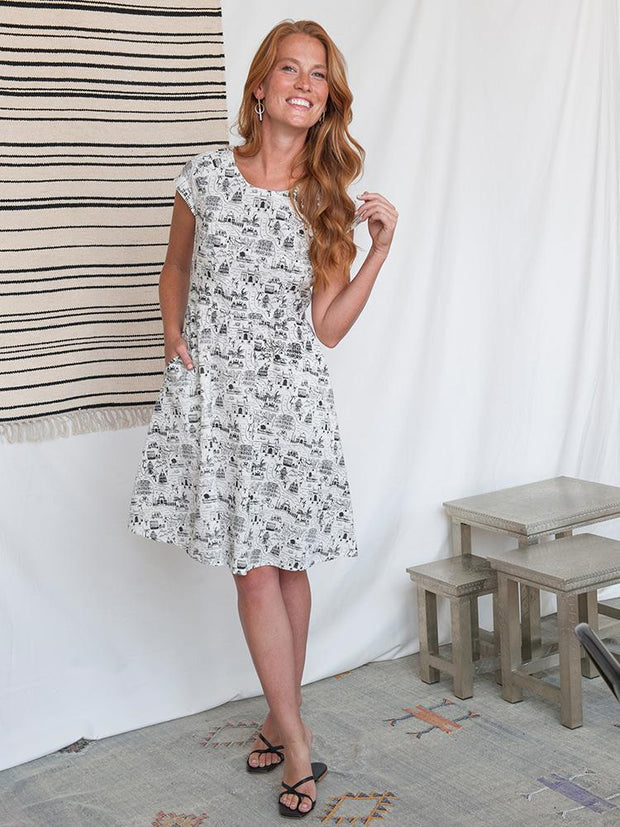 Lovely Lines Dress Voyager White