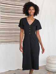 Madrid Midi Dress Black
