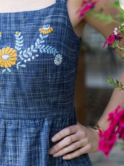 Marigold Dress Cornflower