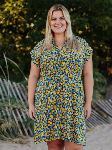 Midtown Plus Size Dress Citrine
