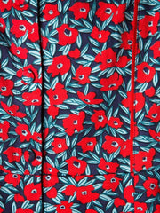 Milan Shift Dress Red Poppies