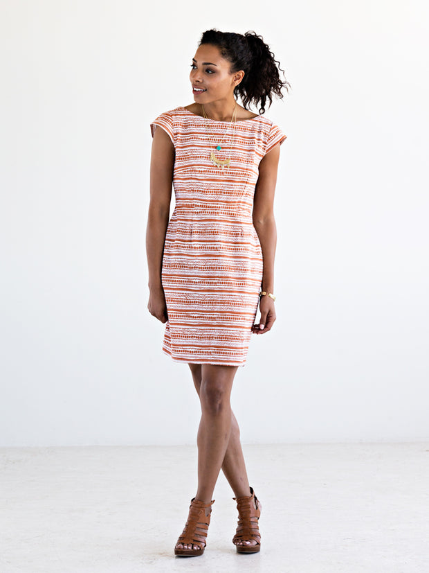 Mod Motion Dress Burnt Orange