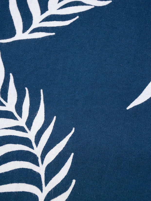 Monterey Dress Navy Palms