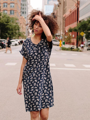 Montrose Midi Dress Navy Zodiac