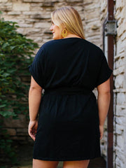 Montrose Tie Plus Size Dress Black