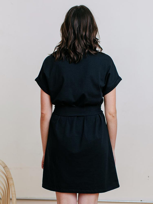 Montrose Tie Dress Black