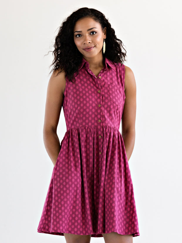 Myrabelle Shirtdress Magenta
