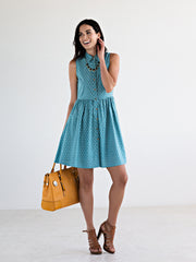 Myrabelle Shirtdress Seafoam