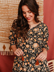 Napa Long Sleeve Dress Amber