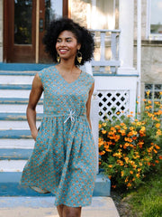 Nashville Dress Teal Orange