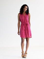 Natalia Shirtdress Berry