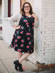 Oberlin Dress Pixel Rose Plus Size