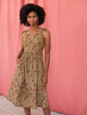 Provence Midi Dress Turmeric