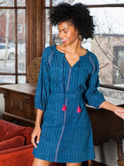 Raglan Tunic Dress Indigo