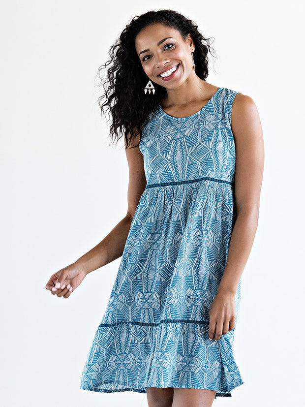 Ravenna Tunic Dress Blue