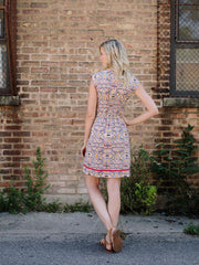Round the World Dress Geo Multi