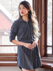 Sabina Shirt Dress Prussian