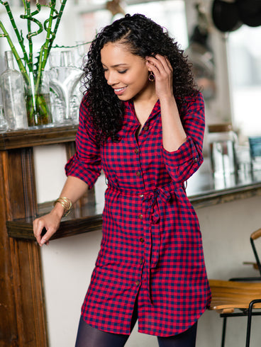 Sabina Shirtdress Red Gingham