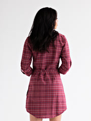 Sabina Shirtdress Rose Wine