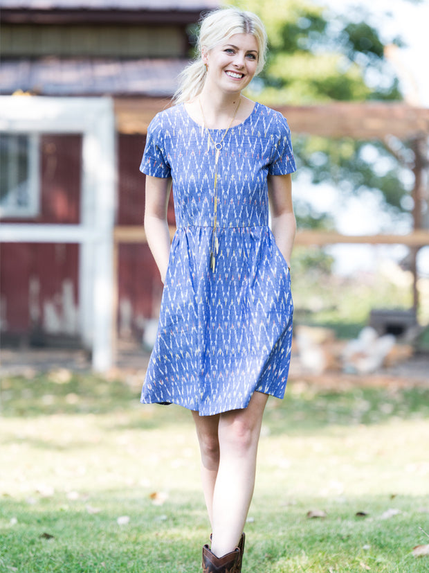 Serenade Dress Chevron Ikat