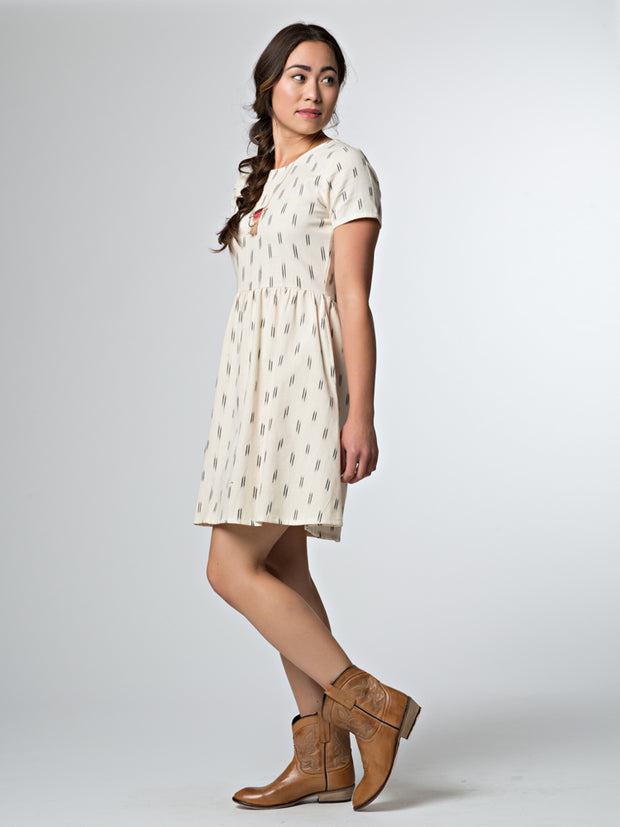 Serenade Dress Cream Ikat