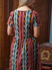 Serenade Dress Desert Ikat