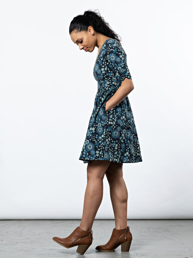 Serephina Dress Slate Blue