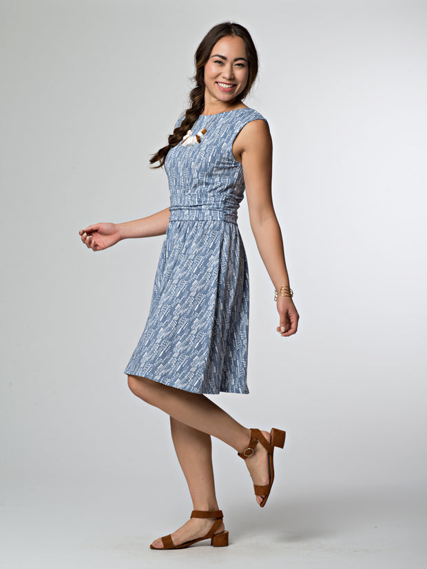 Shoreline Dress Steel Blue