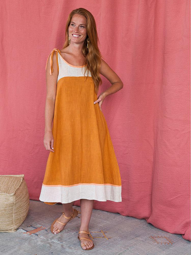 Stevie Swing Dress Ochre