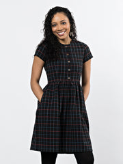 St. Vincent Dress Black Plaid