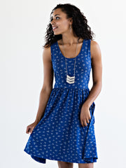 Summer Sonnet Dress Cobalt